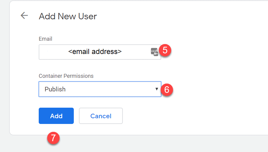 Add New User Address To Google Tag Manager